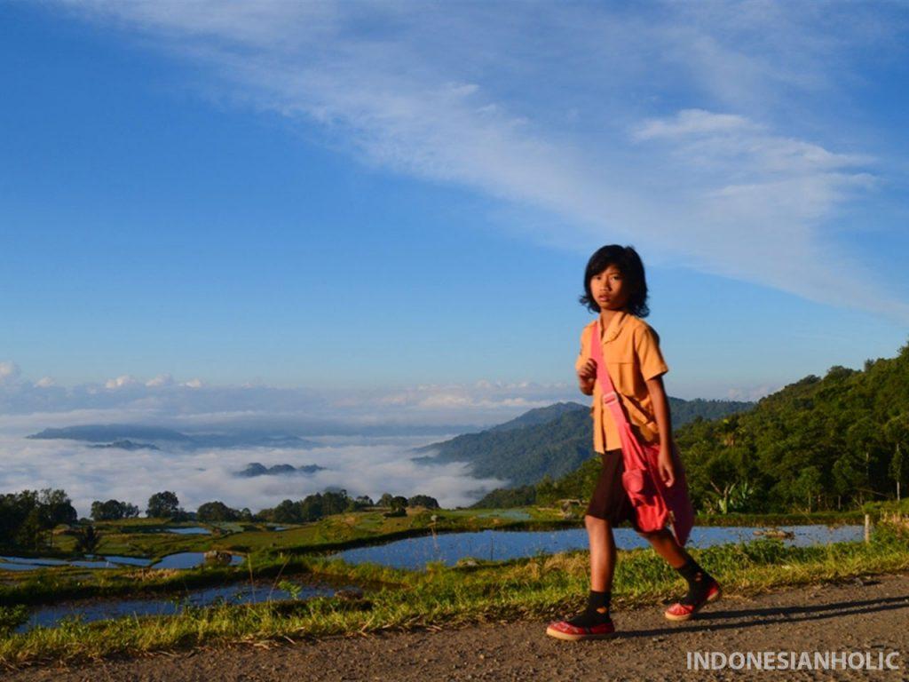 Anak SD di Toraja Utara